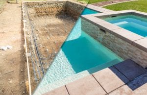 Swimming pool construction is fun and exciting